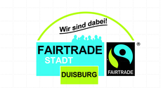 Banner Fairtrade Town Duisburg